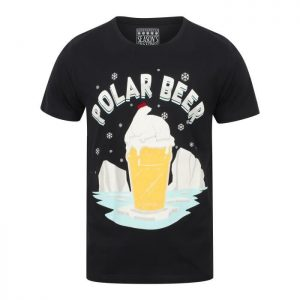 SEASONS GREETINGS T-shirt Noël Ours Polaire Bleu Marine Homme