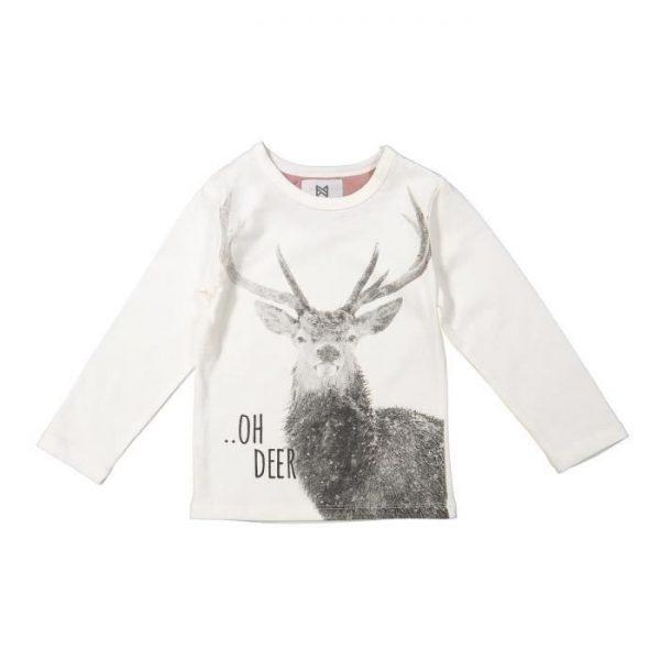 KOKO NOKO T-shirt Noël Motif Cerf Beige Écru Bébé Fille
